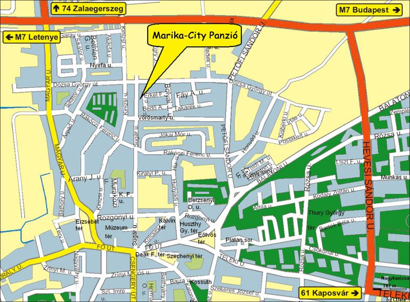 nagykanizsa térkép Marika Panzió Nagykanizsa   Panzió Nagykanizsa, Szállás  nagykanizsa térkép